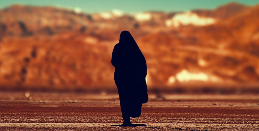 silhouette of person walking on ground at daytime